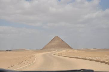 view from Bent Pyramid
