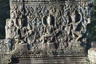 Intricate designs in Bayon temple