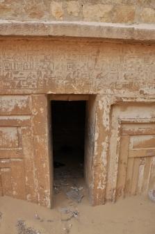 Tomb around Djoser Pyramid with hieroglyphics