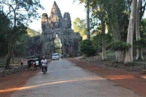 Leaving Angkor Wat