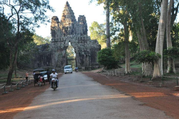 Leaving Angkor Wat