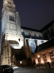 night image of St. Salvators Cathedral