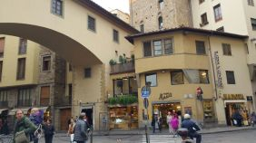 at the corner of Ponte Vecchio