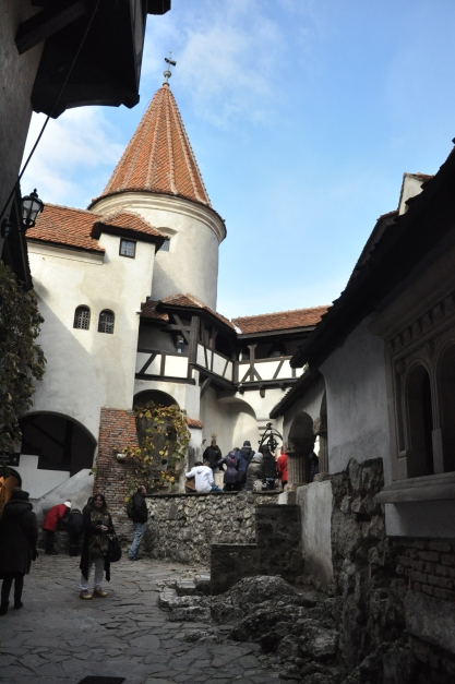 Inside Bran Castle ground