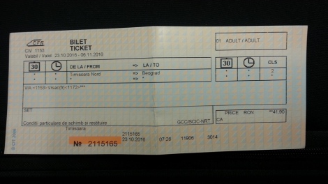 timisoara to beograd ticket