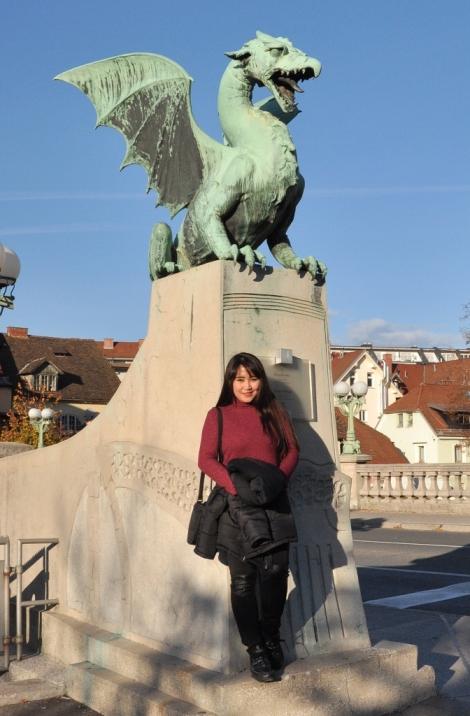 at the Dragon Bridge