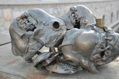 grotesque skulls