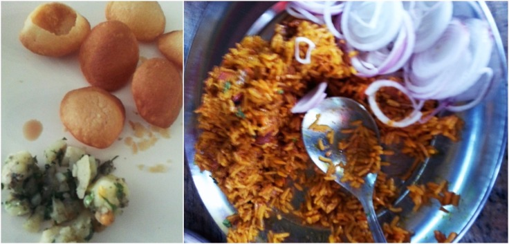 Biryani and Pani Puri