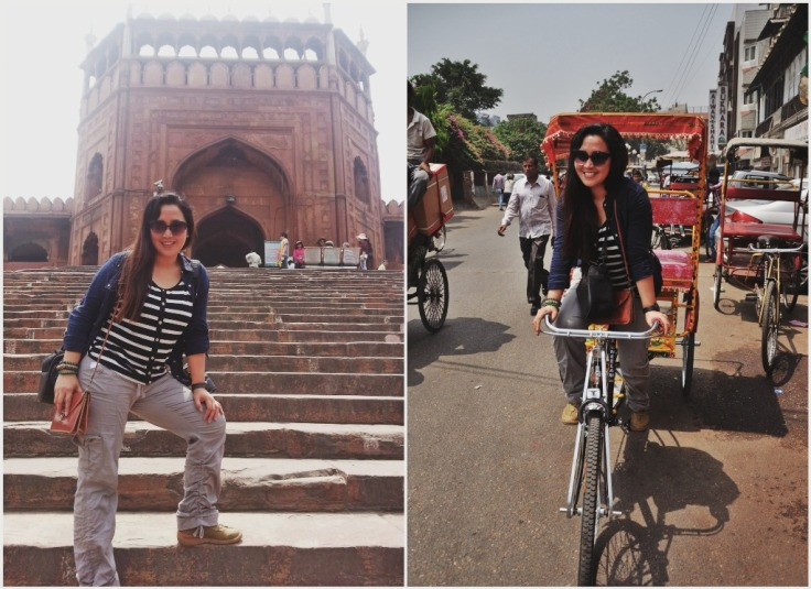Jama Masjid and Rickshaw