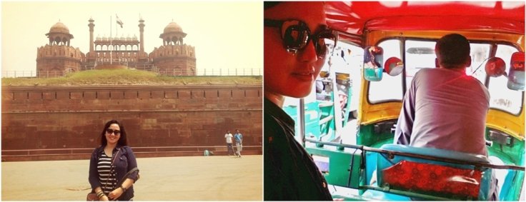 Red Fort and Tuk Tuk India