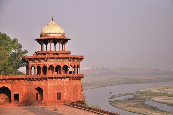 Behind Taj Mahal
