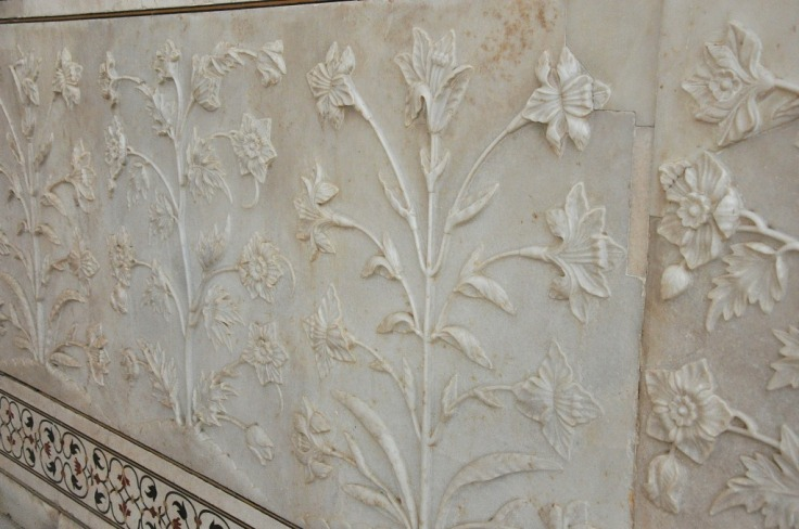 Marble Flower Carvings- Taj Mahal1